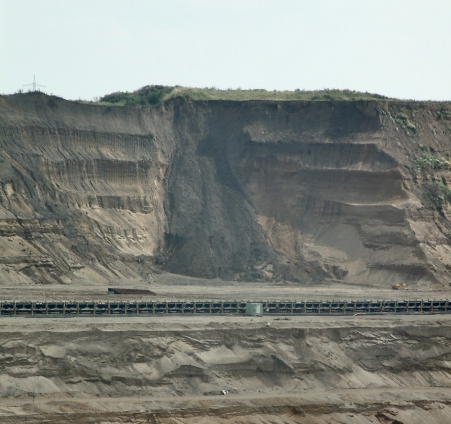 RWE Erdrutsch im Braunkohletagebau
